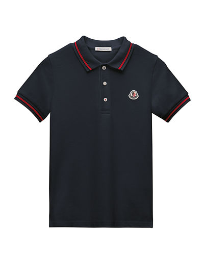 Tipped Jersey Polo Shirt, Size 4-6