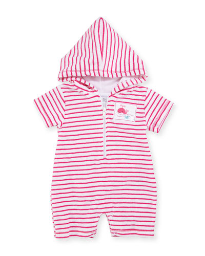 Deep Sea Delight Striped Terry Shortall, Size 3-18 Months