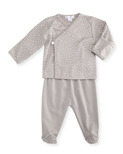Starry Night Printed Footed Pajama Set, Size Newborn-6 Months