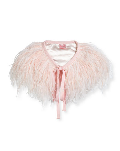 Zoe Feather Capelet, Kid Girls' Sizes