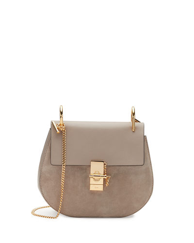 Drew Small Suede & Leather Shoulder Bag