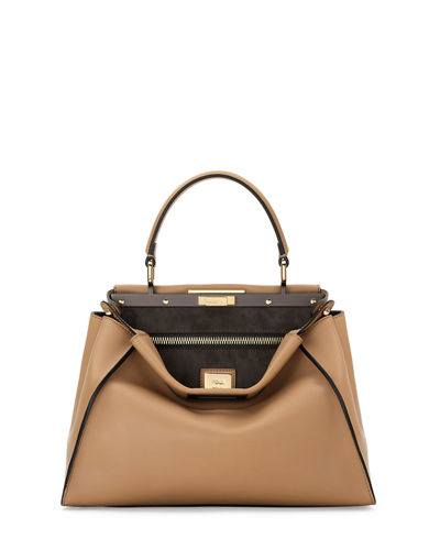 Peekaboo Regular Leather Satchel Bag