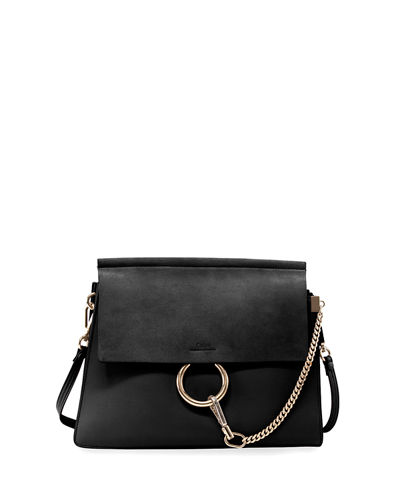 Chloe Faye Medium Leather/Suede Bag