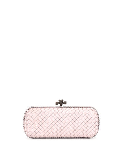 Bottega Veneta Satin Stretch Knot Clutch Bag