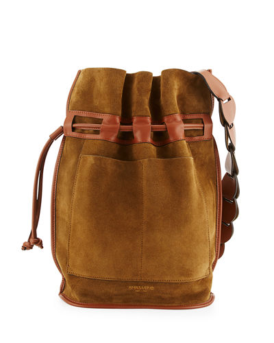 Bowery Suede Bucket Bag