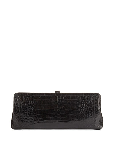 Soft Frame Crocodile Clutch Bag