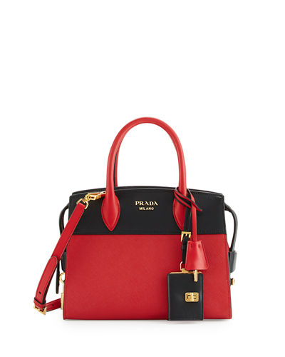 black and red prada handbag
