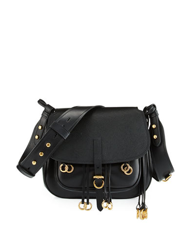 prada leather women bag