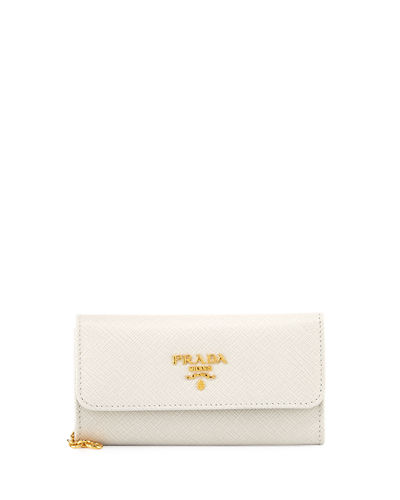 Saffiano Leather Flap Wallet