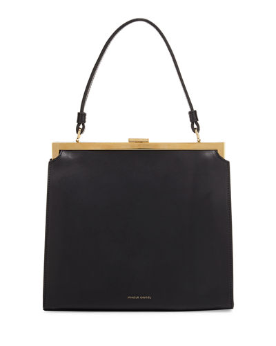 Elegant Leather Top-Handle Bag