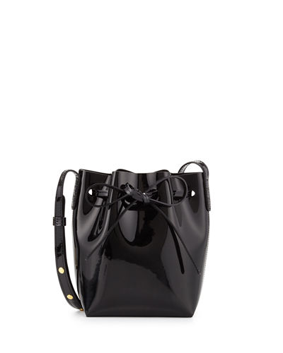 Mini Mini Patent Leather Bucket Bag