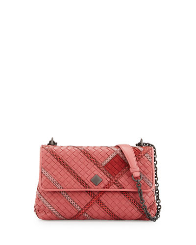 Olimpia Intrecciato Snakeskin & Leather Shoulder Bag