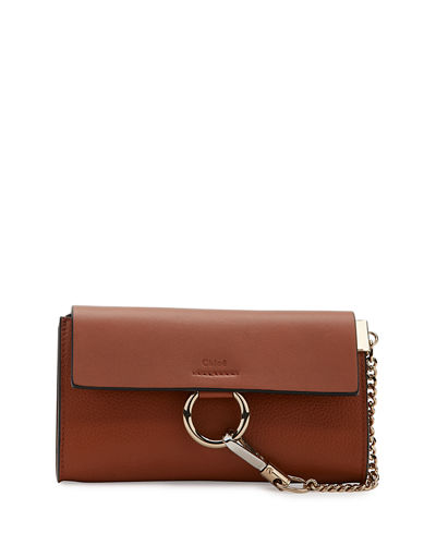 Faye Leather Wallet-on-a-Strap