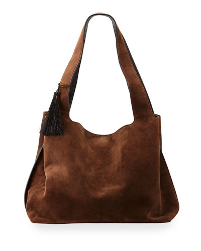 Duplex Suede Satchel Bag