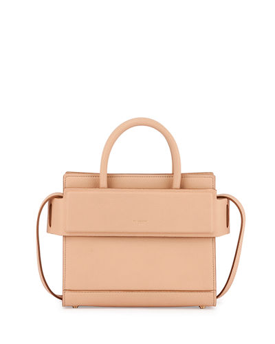 Horizon Mini Grain Leather Satchel Bag
