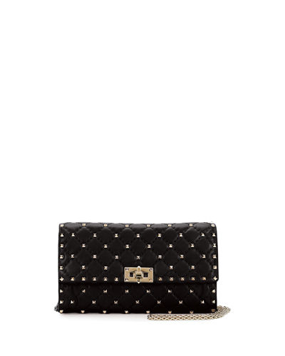 Rockstud Small Quilted Leather Wallet-on-Chain