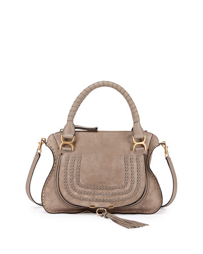 Marcie Medium Suede Satchel Bag