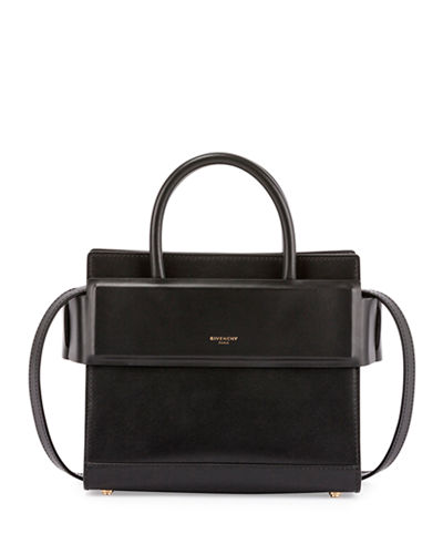 Horizon Small Grained Leather Satchel Bag