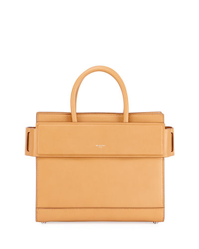 Givenchy Horizon Small Grained Leather Satchel Bag