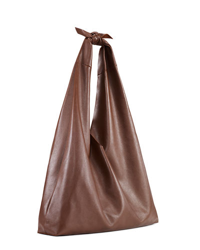 Bindle Calf Leather Hobo Bag
