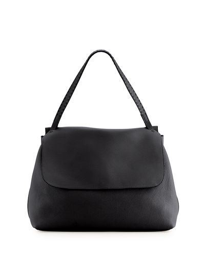 Top Handle 14 Leather Flap-Top Shoulder Bag