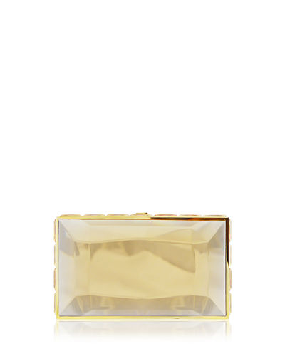 Specchio Faceted Box Clutch Bag