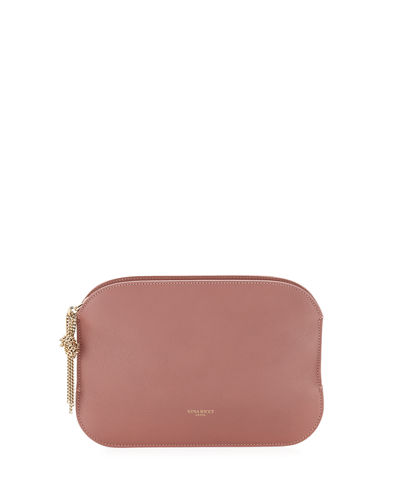 Elide Leather Clutch Bag