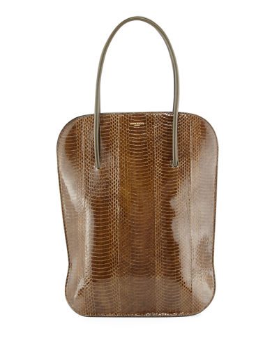 Irrisor Vertical Snakeskin Tote Bag