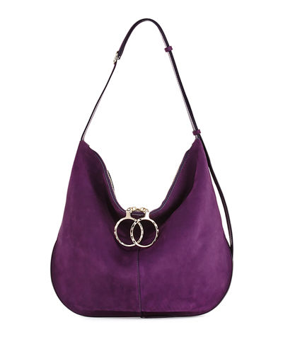 Nina Ricci Kuti Large Nubuck Hobo Bag