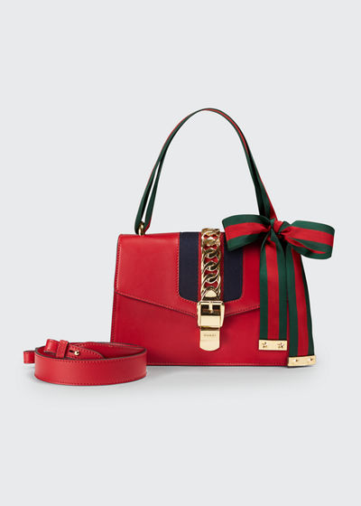Red Structured Handbag | bergdorfgoodman.com