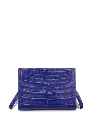 Mini Square Crocodile Clutch Bag