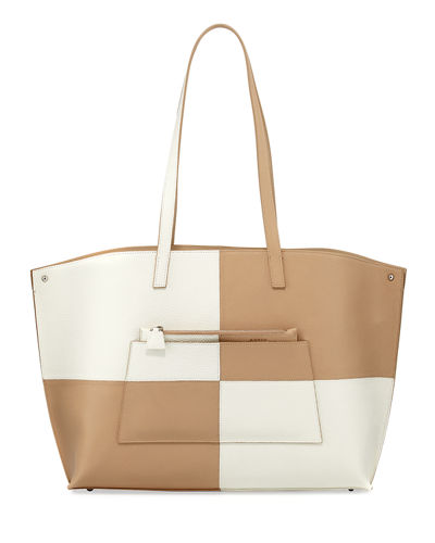 Ai Medium Reversible Colorblock Tote Bag