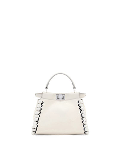 Peekaboo Mini Whipstitch Satchel Bag