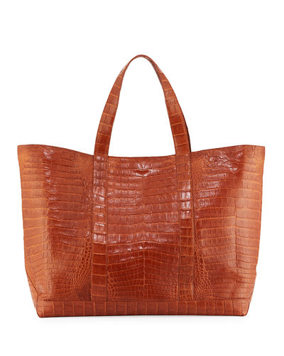 Large Crocodile Tote Bag
