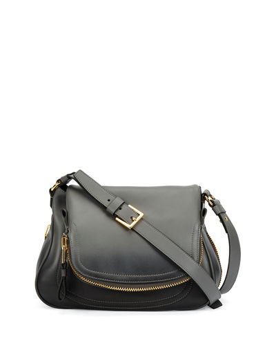 Jennifer Medium Shaded Leather Shoulder Bag