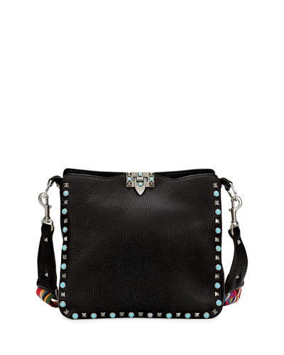 Rockstud Rolling Medium Flip-Lock Messenger Bag