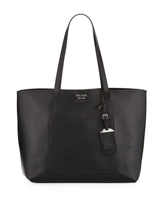 Prada City Calf Large Leather Shopping Tote Bag