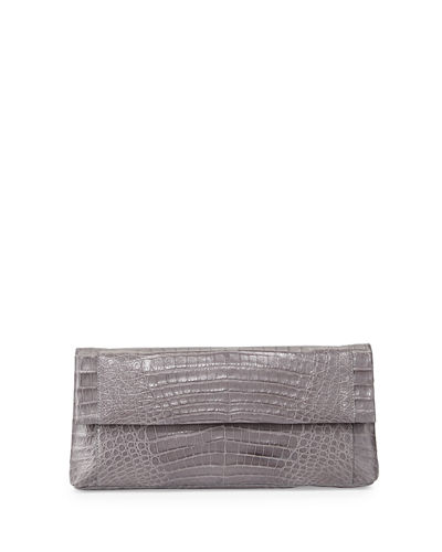 Gotham Crocodile Clutch Bag