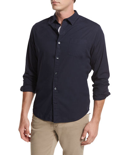 Garment-Washed Oxford Shirt
