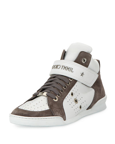Lewis Men's Suede & Leather High-Top Sneaker