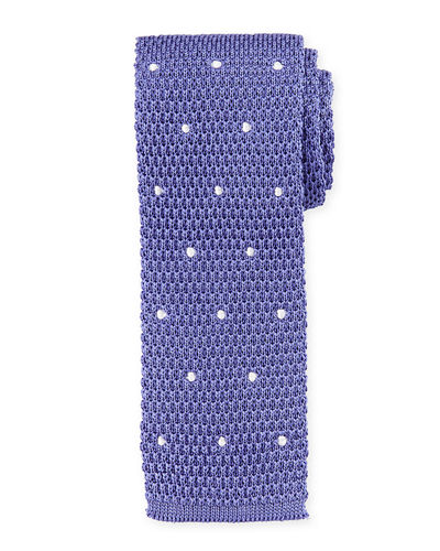 Knitted Dot Silk Tie
