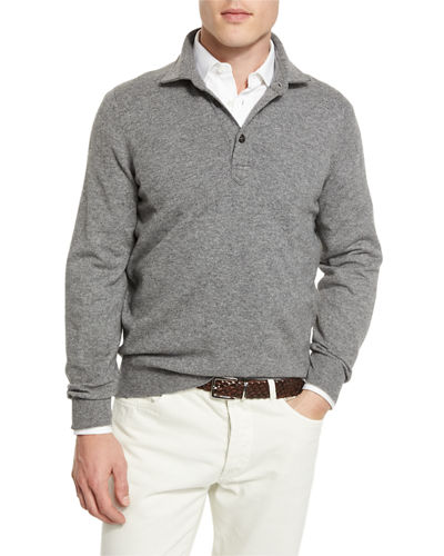 Solomeo Wool-Blend Polo Sweater