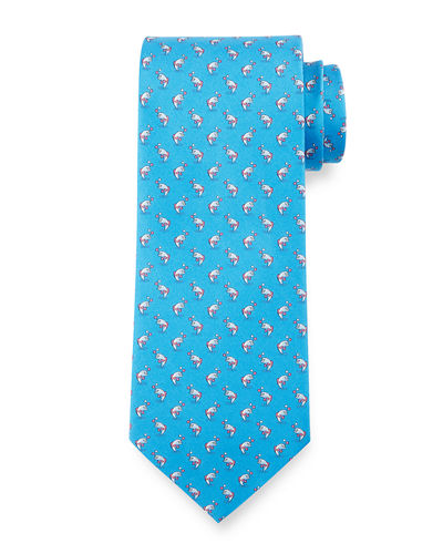 Jumping Fish Silk Tie