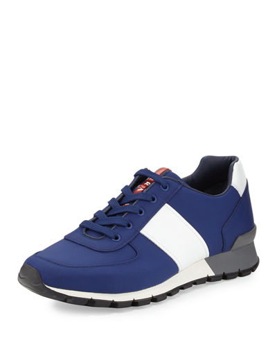Leather & Nylon Running Sneaker