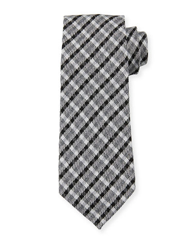 TOM FORD Plaid Wool/Silk Tie