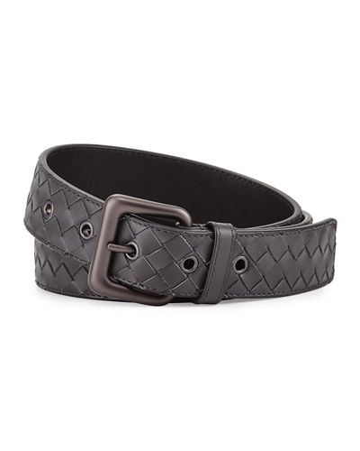 Bottega Veneta Intrecciato Woven Buckle Belt