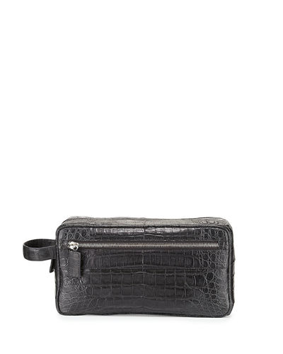 Crocodile Double-Zip Travel Bag