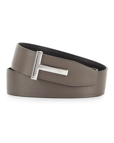 Reversible Leather Logo Belt