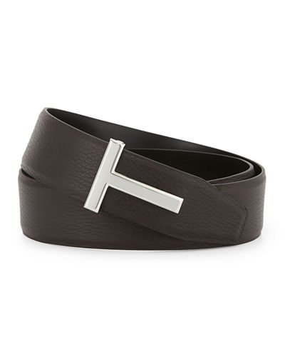TOM FORD Reversible Leather Logo Belt