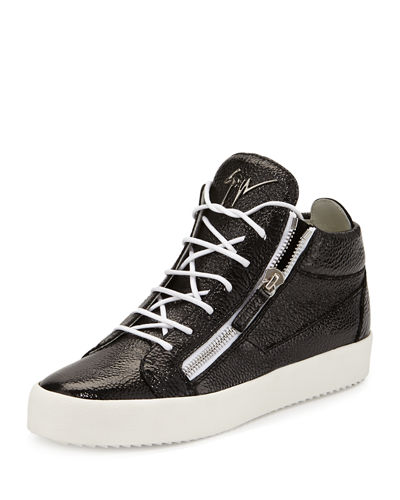 Men's Leather Mid-Top Sneaker